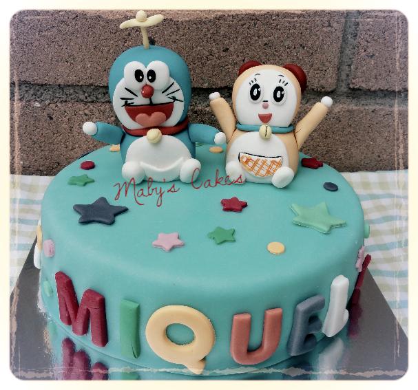 Tarta Doraemon y Dorami