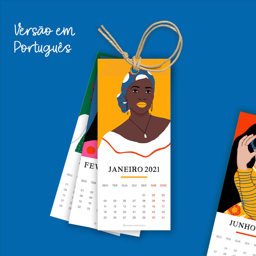 Calendário 2021 Gratuito em Português
