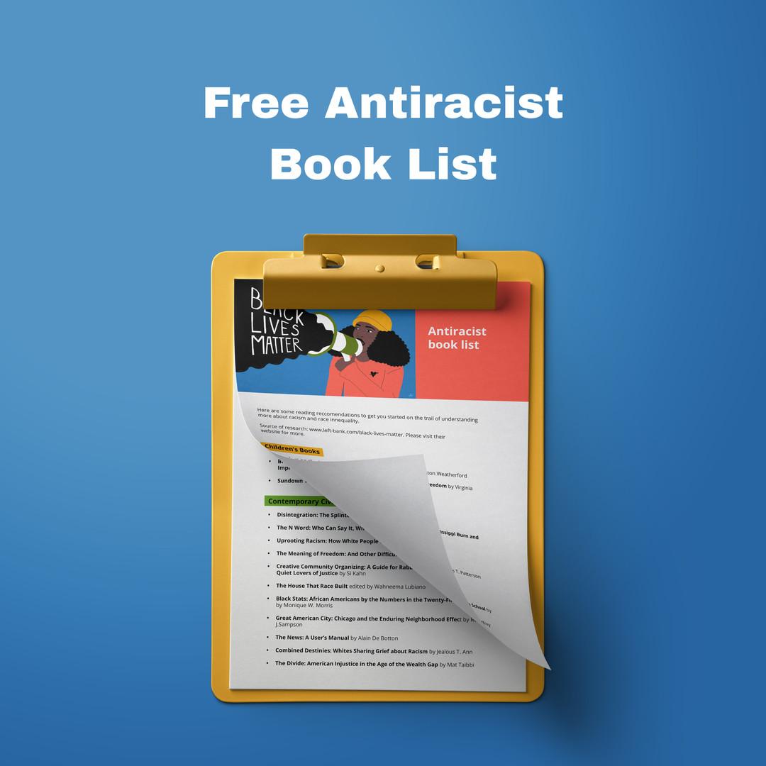 Free Antiracist Book List Black Lives Matter