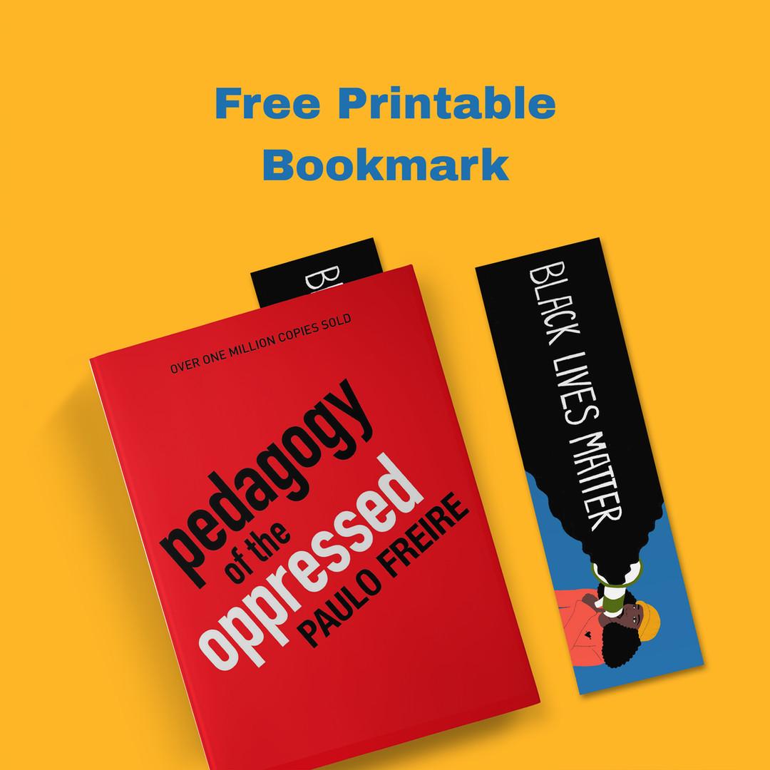 Free Printable Bookmark Black Lives Matter