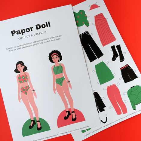 Free Printable Paper Doll for Kids by Agatha Vieira