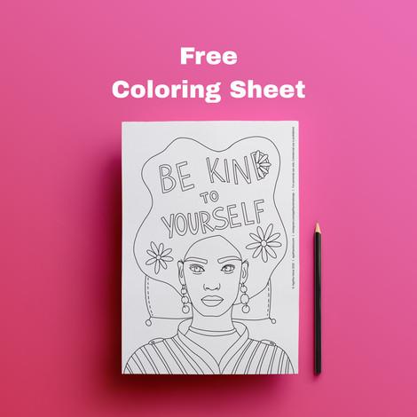 Free Coloring Sheet by Agatha Vieira