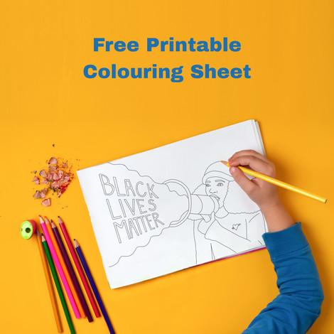 Free Printable Colouring Sheet Black Lives Matter