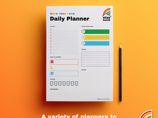 Stay Home   Organise your quarantine routine with my free printable planners
