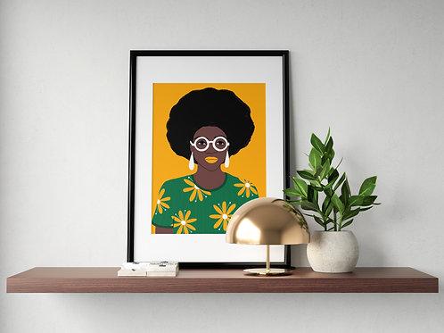 Wall Art_Good hair day_A4 Print