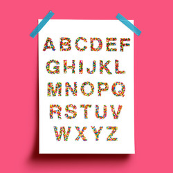 Candy Helvetica Handcrafted Typography by Agatha Vieira