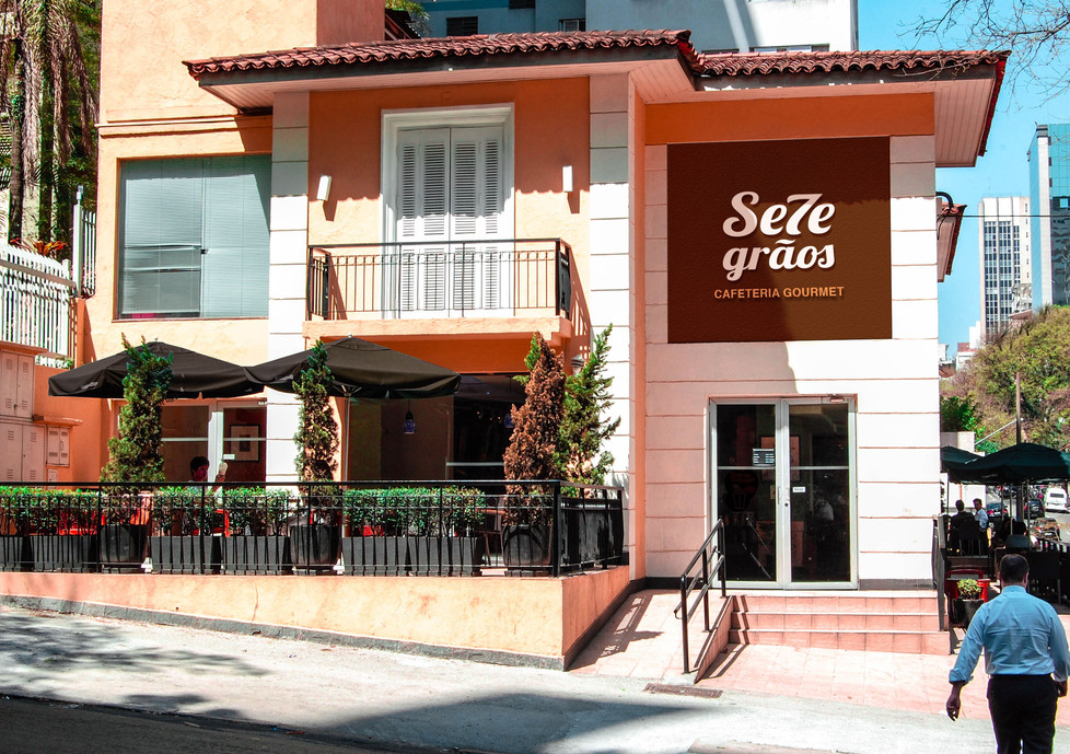 7 Grãos Coffee Shop Facade