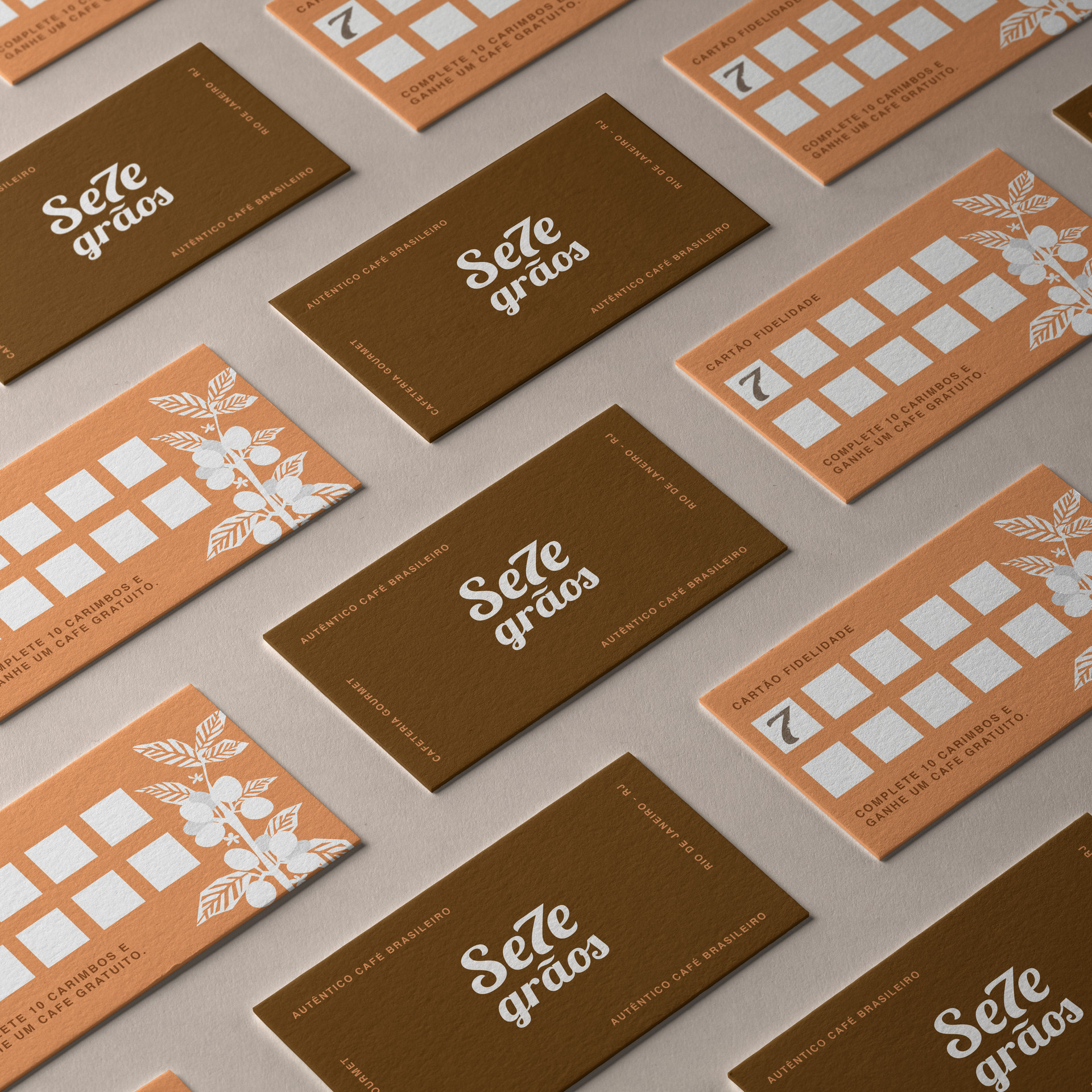 7 Grãos Coffee Shop Loyalty Cards