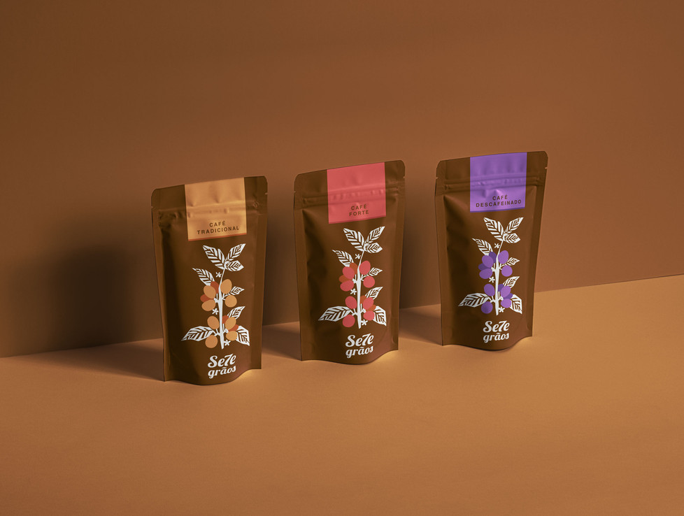 7 Grãos Coffee Shop Package Design