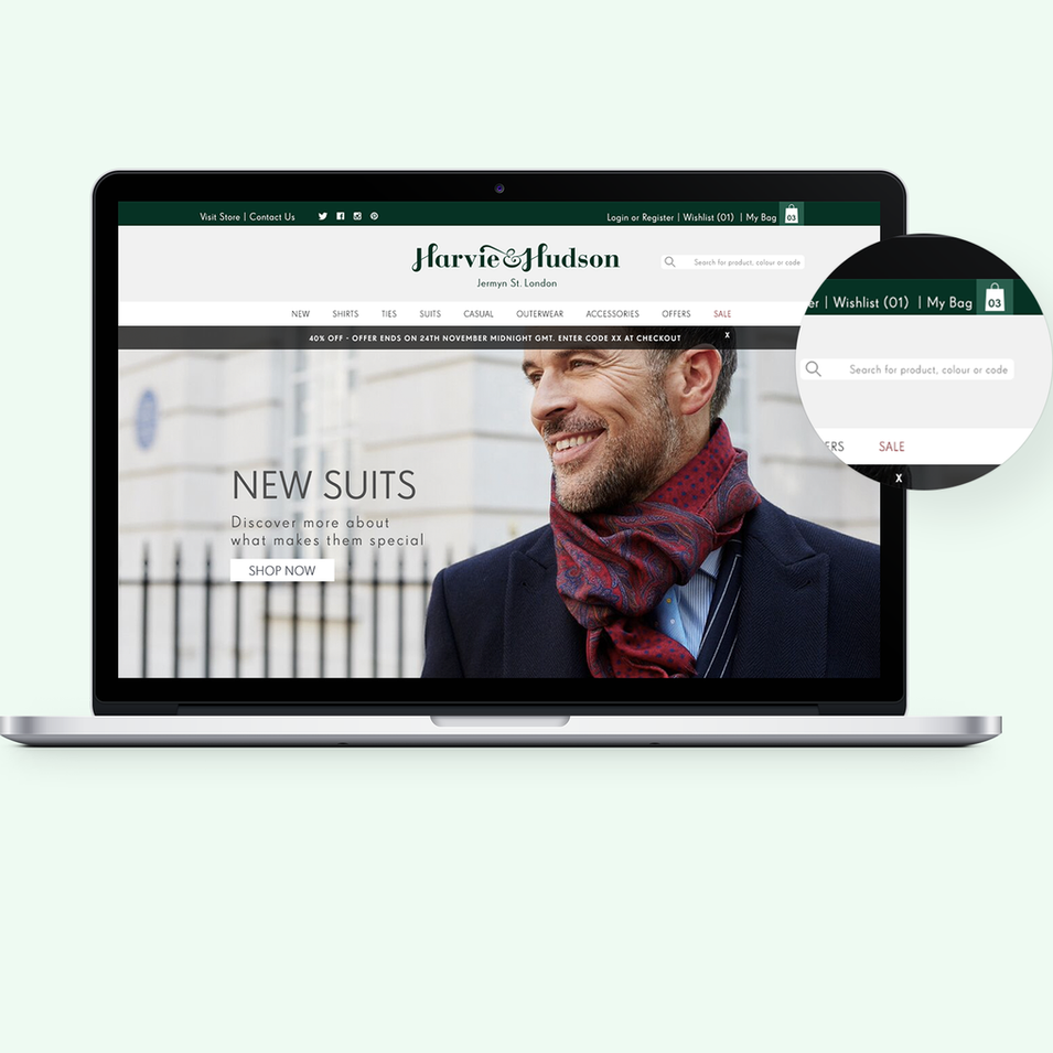Harvie and Hudson Website Redesign