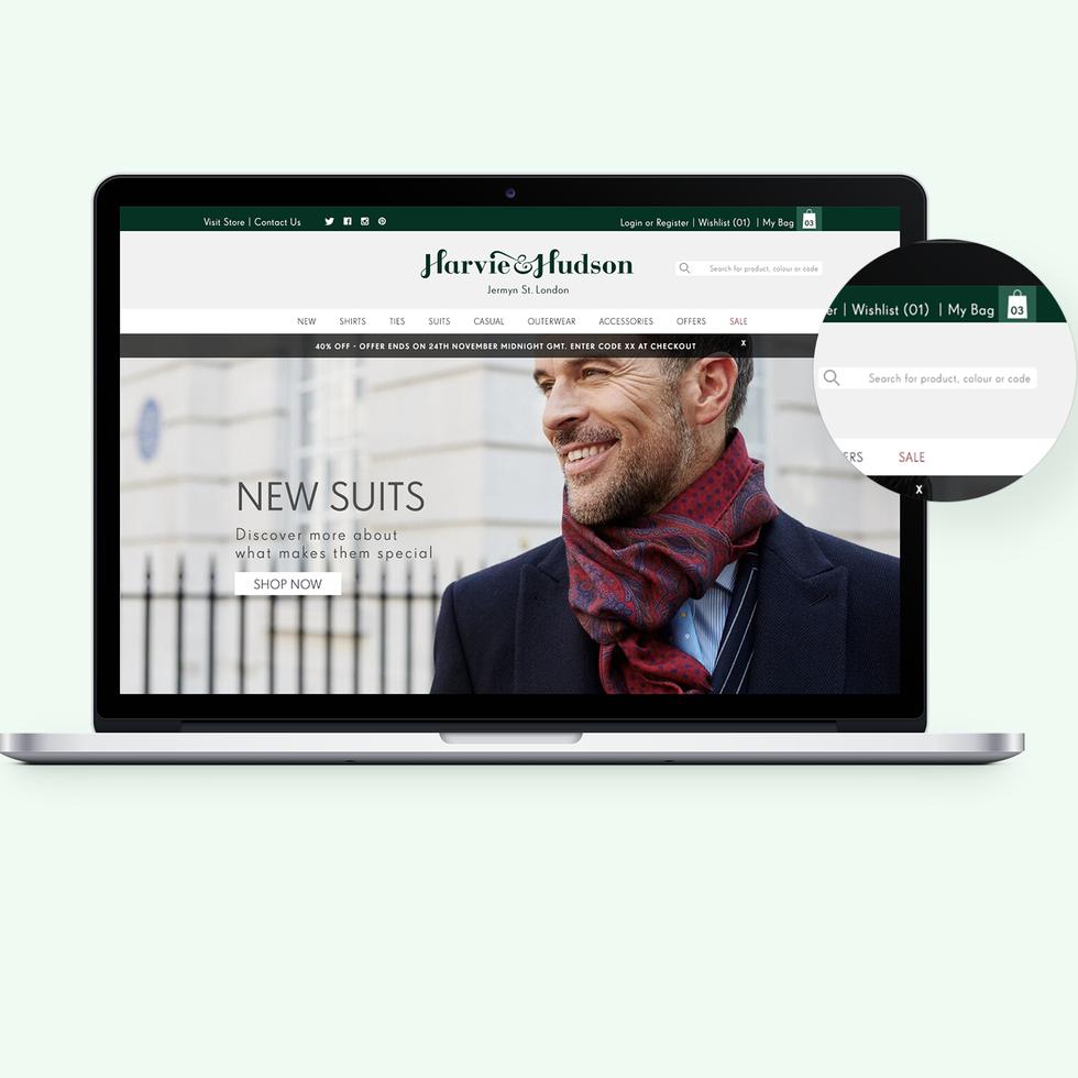Harvie and Hudson Website Redesign