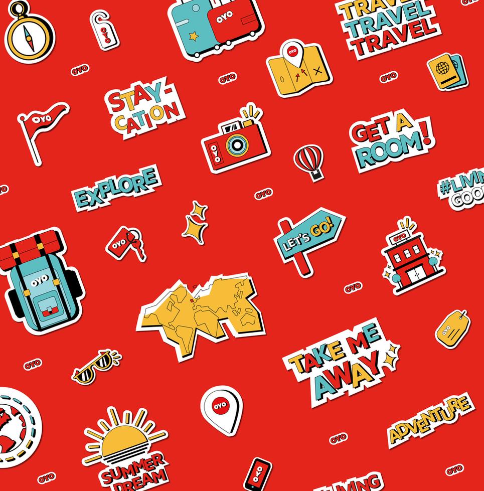 OYO Hotels Instagram Stickers by Agatha Vieira
