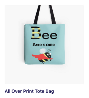 Bee Awesome tote bag.png