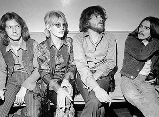Eric Clapton, Bonnie Bramlett, Delaney Bramlett and George Harrison. rockcellarmagazine.com