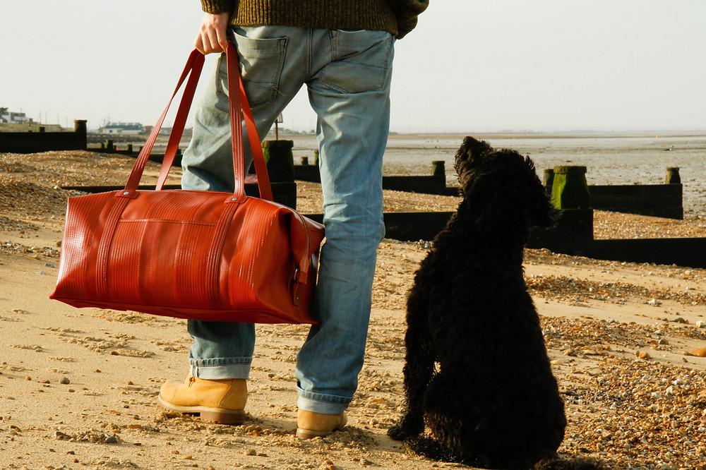 circular brand elvis and kresse zero waste weekend bag