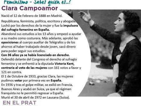 FEMINISMO - Sabes quién es...? Clara Campoamor