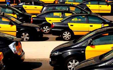 Reivindicaciones de taxistas en Barcelona