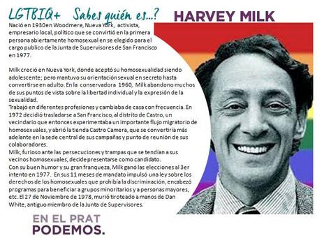 LGTBIQ+- Sabes quién es...HARVEY MILK?
