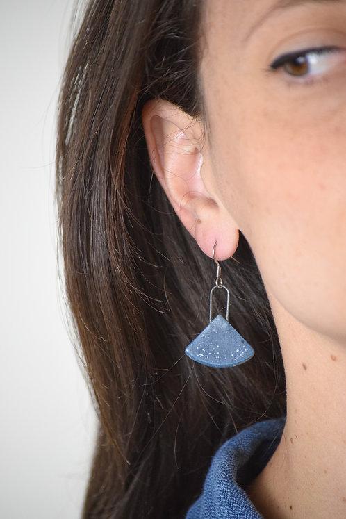minimal fan earrings