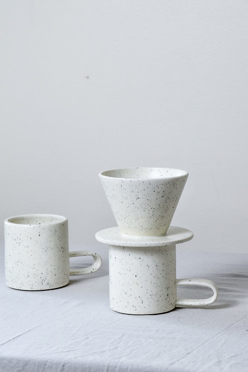 white speckle pour over