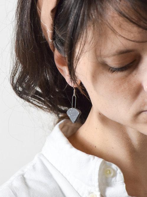 pizza stone earrings