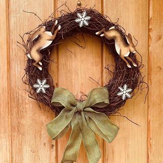 Christmas Hare Wreaths