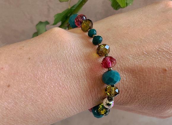 Boho Bracelet - Green, Blue, Pink