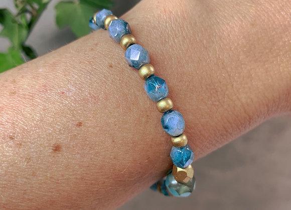 Boho Bracelet - Blue & Gold