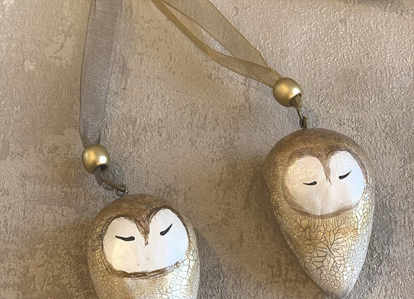 Barn Owl Hanging Decorations