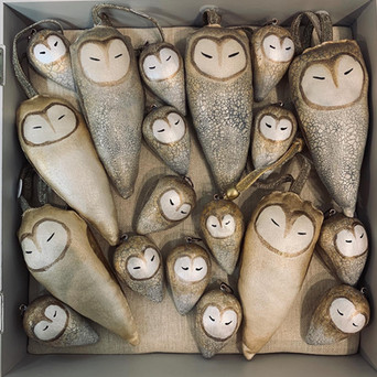 Decorative Barn Owls