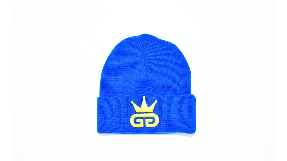 GGT Egyptian Blue Woolly Hat - All Yellow Logo