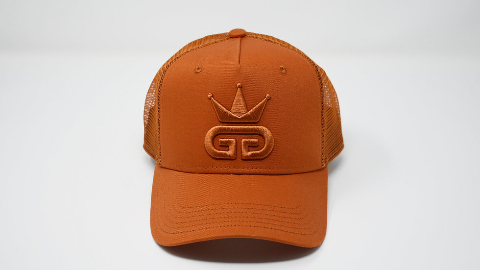 GGT Copper Orange Mesh Snapback - All Copper Orange Logo