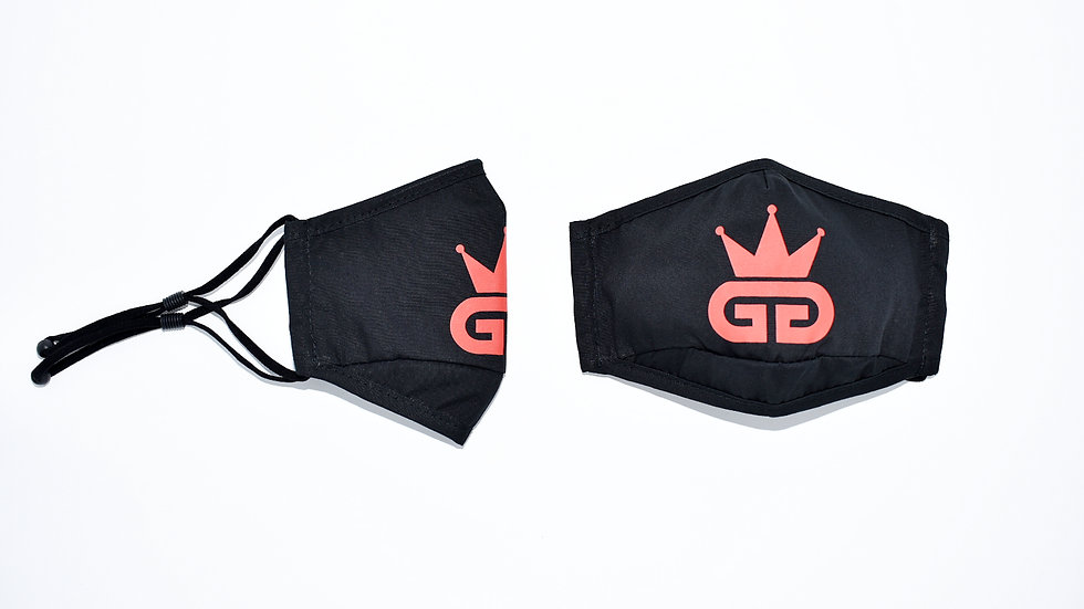 GGT Black and Red  PM2.5 Filter Face Mask