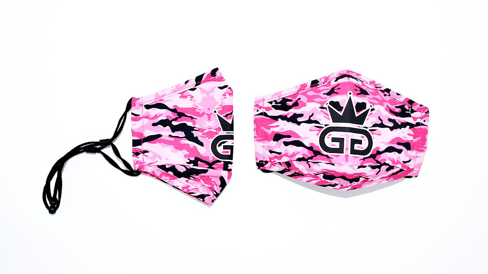 GGT Gaza Pink Camo  PM2.5 Filter Face Mask