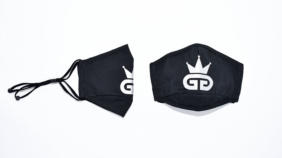 GGT Black and Reflective Silver PM2.5 Filter Face Mask