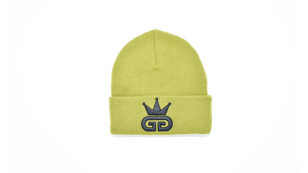 GGT Olive Green Woolly Hat - All Black Logo