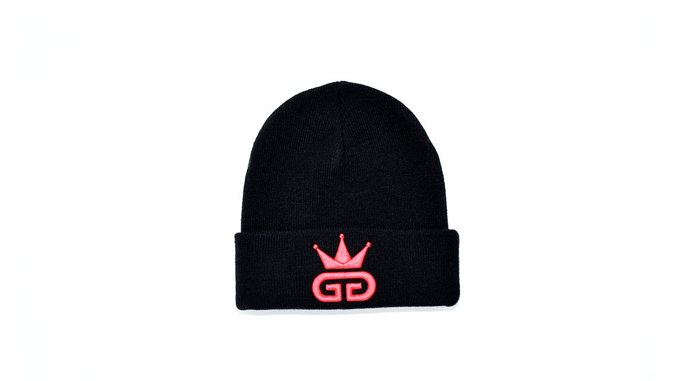 GGT Black Woolly Hat - All Red Logo