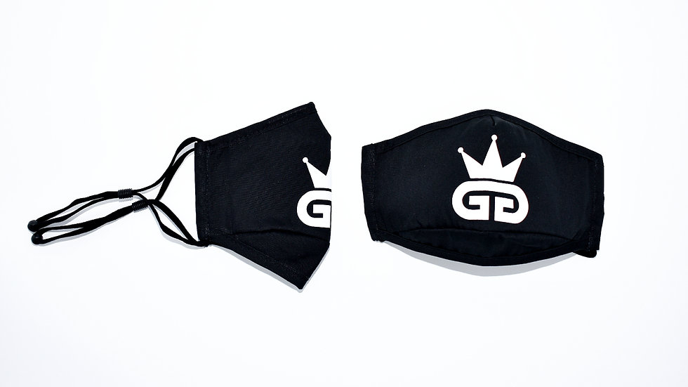 GGT Black and White PM2.5 Filter Face Mask