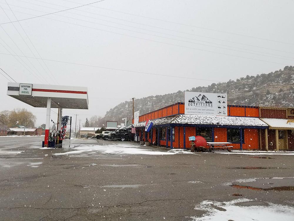 Snow in Dolores, Colorado!