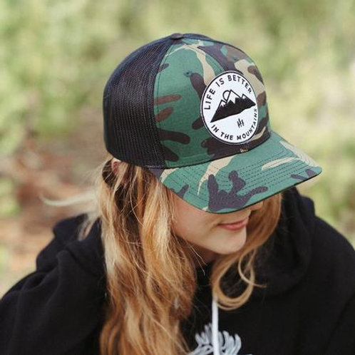 Life Is Better In The Mountains Unisex Trucker - Camo