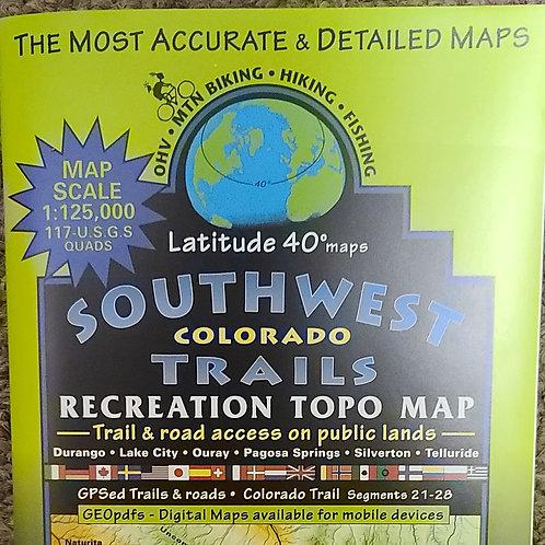 Latitude 40 Southwest Colorado Map
