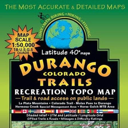Latitude 40 Durango Colorado Map
