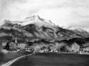 Value scale of Village in the French Alps by FL artist Carolyn Land