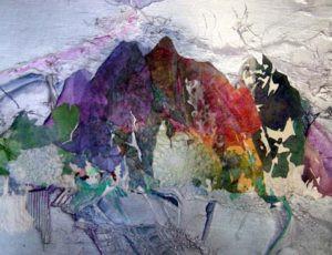 Mixed Media collage by FL artist Carolyn Land