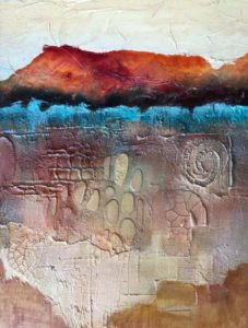 Aternate surface painting by FL artist Carolyn Land