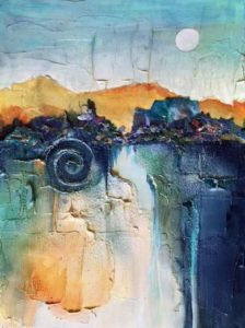 Alternative Surface painting by Florida artist Carolyn Land