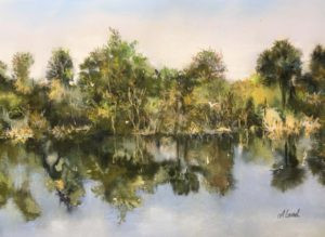 Painting by FL artist Carolyn Land Pastel over