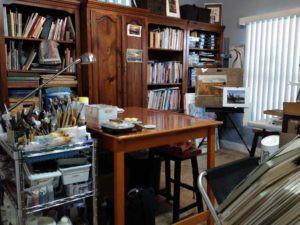 Studio of FL artist Carolyn land