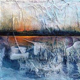 land,Carolyn,Layers of Life, acrylic on