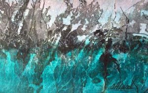 Abstract painting by FL artist Carolyn Land